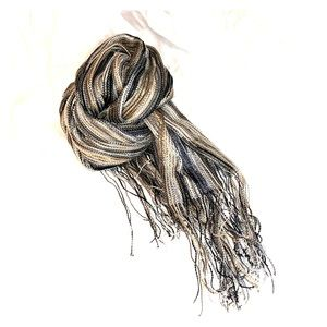 Missoni BLK/WHT/GRY Oblong Viscose Ladies Scarf